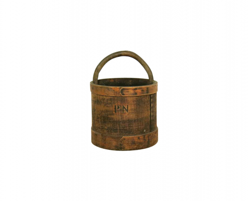 Vintage French Wooden Bucket for Hire