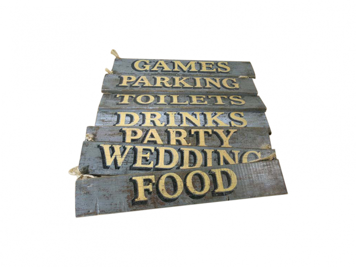 Distressed Wooden Signs for Hire Scotland