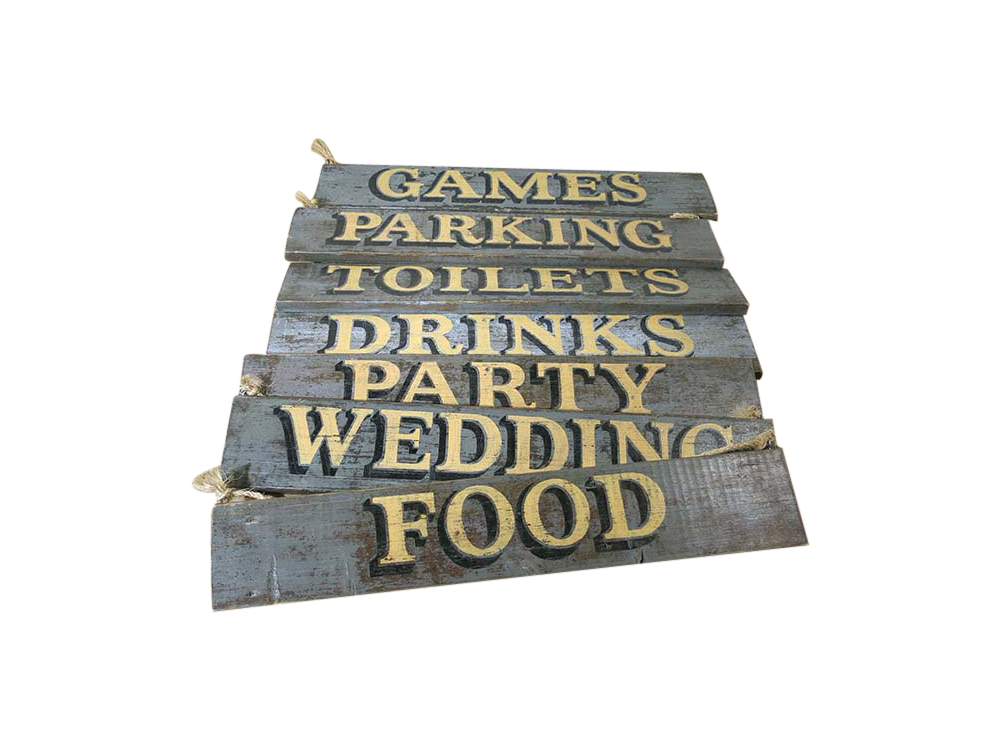 Distressed Wooden Signs for Hire London, South East