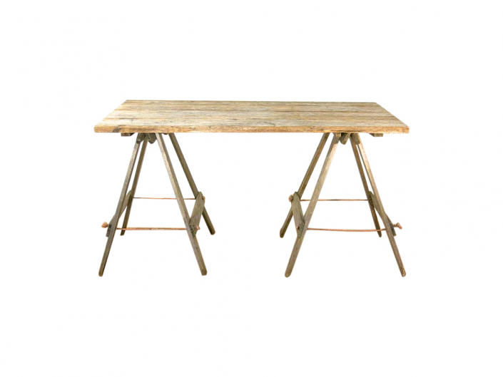 Vintage Wooden Trestle Table for Hire