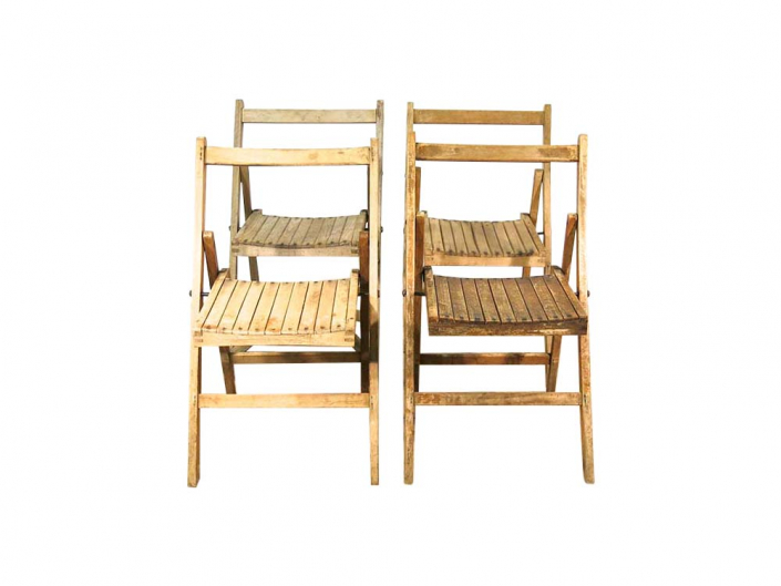 Vintage Wooden Folding Chair for Hire Devon, South West