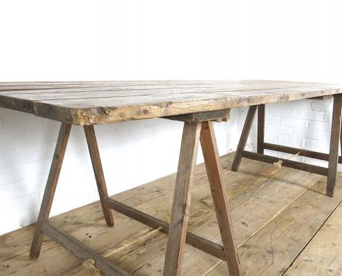 Vintage Trestle Tables for Hire