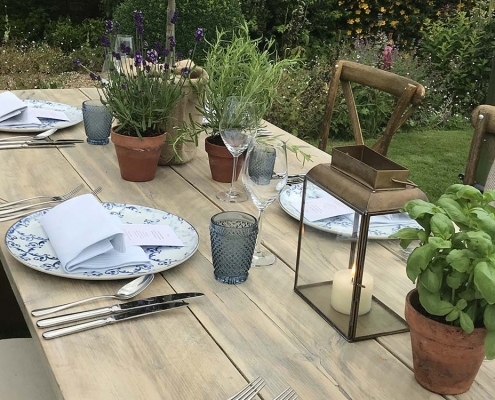 Whitewashed Trestle Tables for Hire Scotland