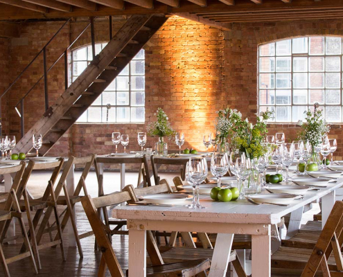 Rustic White Wooden Trestle Table for Hire