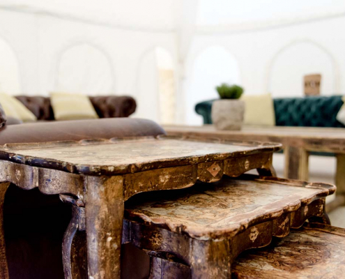Vintage Nest of Tables for Hire