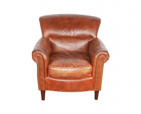 Classic Leather Club Armchair for Hire London, South East