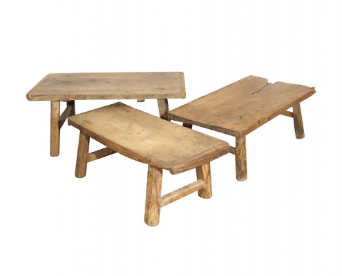 Antique Elm Coffee Table for Hire London