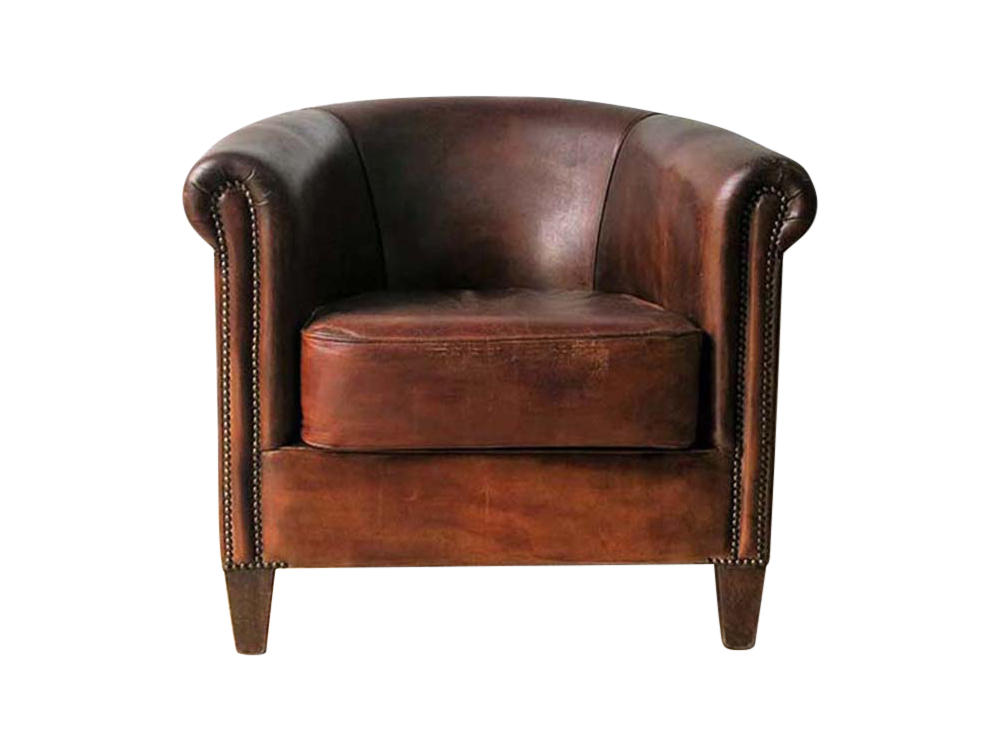Distressed Leather Chair for Hire Scotland