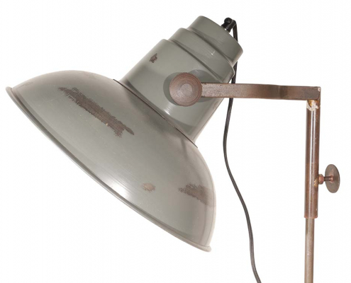 Distressed Metal Floor Lamp for Hire Devon, South West