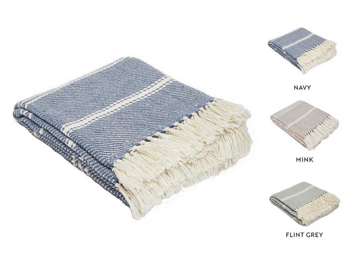 Bantham Stripe Blankets for Hire Scotland