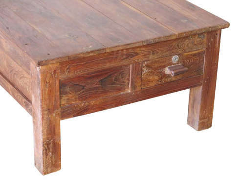 Restored Wooden Coffee Table for Hire Glasgow, Scotland