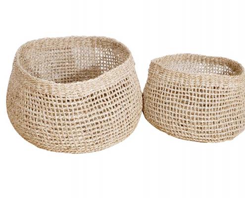 Handmade Seagrass Baskets for hire Devon, South West