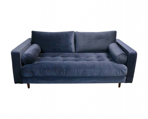 Navy Velvet Sofa for Hire Glasgow, Scotland