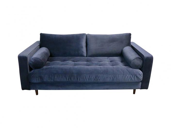 Navy Velvet Sofa for Hire Glasgow, Scotland