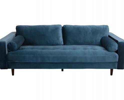 Petrol Blue sofa for Hire Edinburgh, Scotland