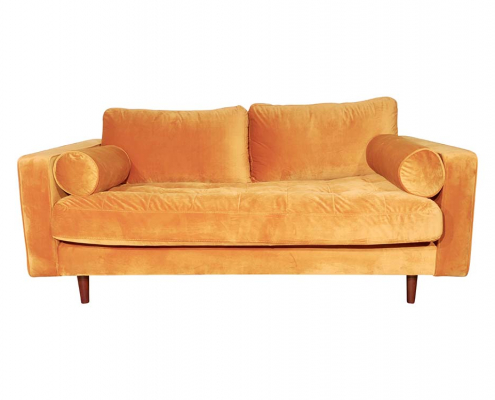 Gold Velvet Sofa for Hire London, South East