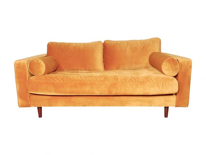 Gold Velvet Sofa for Hire London, South East