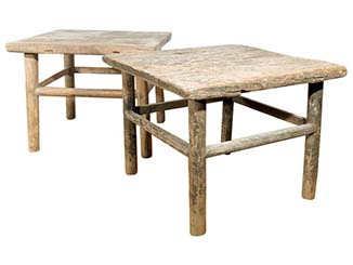 Elm Side Tables for Hire Scotland