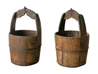 Vintage Chinese Well Buckets for Hire