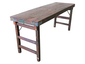 Wooden Trestle Table for Hire Edinburgh, Scotland