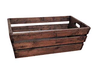 Rustic Wooden Basket for Hire Scotland