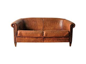 Tan Leather Sofa for Hire Scotland