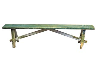 Colourful Wooden Bench for Hire Scotland