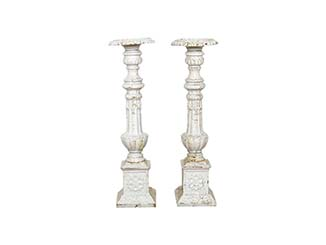 Vintage Metal Candlesticks for Hire Scotland