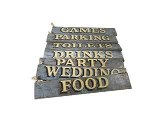 Distressed Wooden Signs for Hire Edinburgh, Scotland