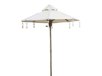 White Linen Parasol for Hire