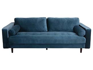 Petrol Blue sofa for Hire Edinburgh, Scotland