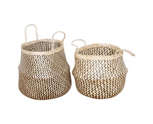 Handmade seagrass baskets
