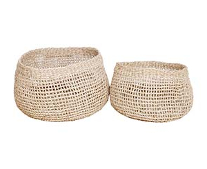 Open Weave Seagrass Basket