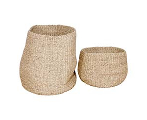 Closed Weave Seagrass Basket