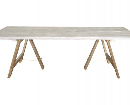 Whitewashed Trestle Table