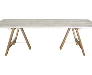 Whitewashed Trestle Table