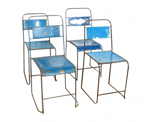 Vintage Metal Chairs for Hire