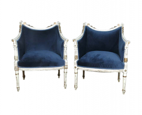 Vintage French Upholstered Chair Hire Surrey