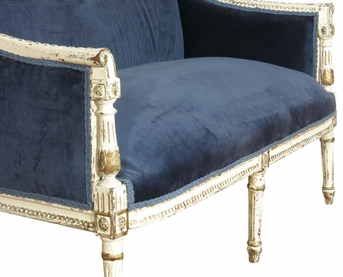 Vintage French Upholstered Sofa for Hire