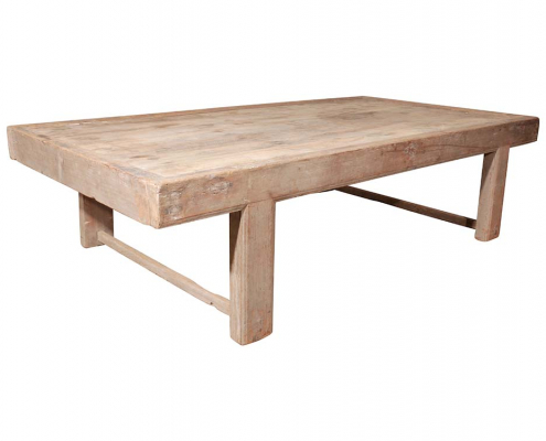 Vintage Low Wooden Table for Hire