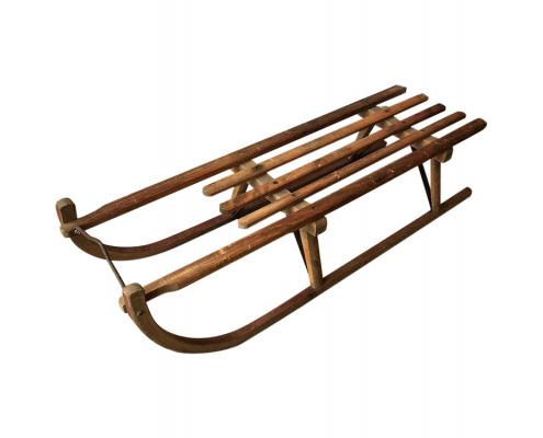 Vintage Wooden Sledge for Hire