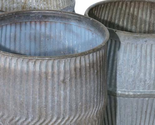 Vintage Galvanized Tubs for Hire Devon