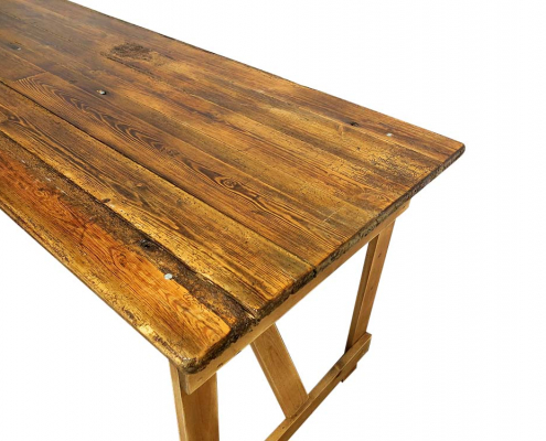 Old Wooden Trestle Table for hire Scotland