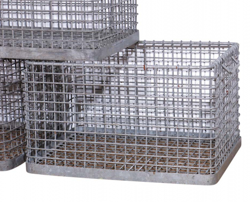 Vintage Metal Crates for Hire