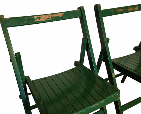 Vintage Green Folding Chairs for Hire Scotland