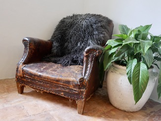 Large Charcoal Sheepskin small