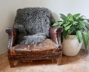 Large Charcoal Sheepskin