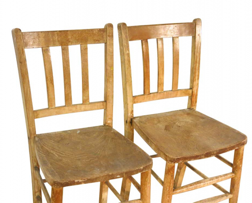 Vintage Wood Chairs for Hire