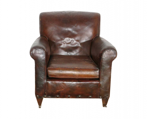 Antique Leather Armchair for Hire