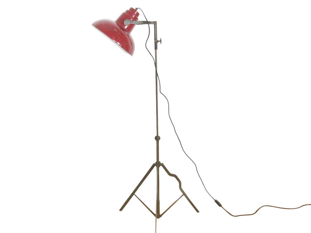 Distressed metal floor lamp for Hire